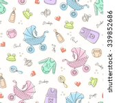 vector seamless pattern with... | Shutterstock .eps vector #339852686