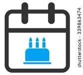 birthday vector icon. style is... | Shutterstock .eps vector #339863474