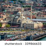 Aerial View Of Yeni Cami Mosque ...