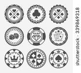casino and poker chips set of...   Shutterstock .eps vector #339869318