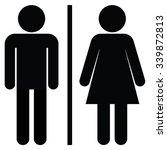 Man Woman Toilet Sign Male...