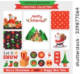merry christmas illustration.... | Shutterstock .eps vector #339877064