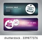 banner design for sales and...   Shutterstock .eps vector #339877376