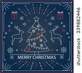 merry christmas card with... | Shutterstock .eps vector #339882446