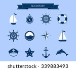 Vector Of Nautical And Marine...