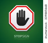 do not enter stop sign with... | Shutterstock .eps vector #339885668
