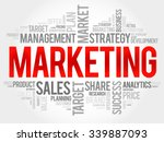 marketing word cloud  business... | Shutterstock .eps vector #339887093