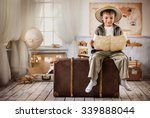 little boy in the form of... | Shutterstock . vector #339888044