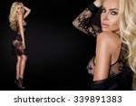 very beautiful young blond sexy ... | Shutterstock . vector #339891383