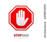 Do Not Enter Stop Red Sign Wit...