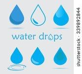 vector water drops icon set | Shutterstock .eps vector #339892844