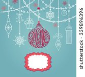 christmas greeting card with... | Shutterstock .eps vector #339896396