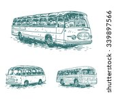 Set Of Retro Buses. Picture Of...
