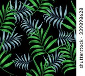 tropical colorful palm leaves.... | Shutterstock . vector #339898628
