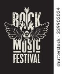 poster for a rock music... | Shutterstock .eps vector #339902024