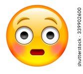 suprise emoticon. wonder... | Shutterstock .eps vector #339902600
