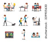 people different action use... | Shutterstock .eps vector #339905630