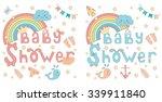 baby shower invitation card for ... | Shutterstock .eps vector #339911840