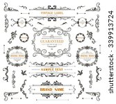 vintage decorations curl... | Shutterstock .eps vector #339913724