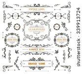 vintage decorations curl... | Shutterstock .eps vector #339913724