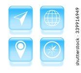 glassy navigation icons. vector ...