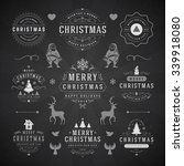 merry christmas and happy new... | Shutterstock .eps vector #339918080