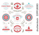 merry christmas and happy new... | Shutterstock .eps vector #339918083