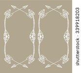 square frames of ethnic arrows. ... | Shutterstock .eps vector #339918203
