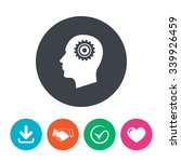 head with gear sign icon. male... | Shutterstock .eps vector #339926459
