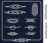 rope knots collection.... | Shutterstock .eps vector #339926996