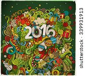 2016 year hand lettering and... | Shutterstock .eps vector #339931913