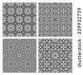 set of 4 abstract arabic... | Shutterstock .eps vector #339932759
