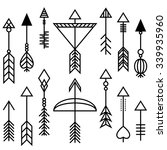 vector arrows and bow set... | Shutterstock .eps vector #339935960