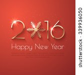 happy new year 2016 text design.... | Shutterstock .eps vector #339936050