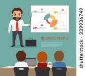 set of business people meeting... | Shutterstock .eps vector #339936749