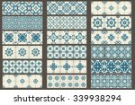 set of 18 classic seamless... | Shutterstock .eps vector #339938294