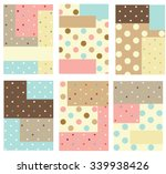 set of cute creative cards with ... | Shutterstock .eps vector #339938426
