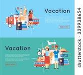 world travel. planning summer... | Shutterstock .eps vector #339938654