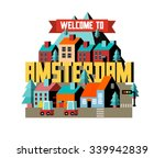 amsterdam city in is a... | Shutterstock .eps vector #339942839