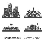 black city icon set. signs and... | Shutterstock .eps vector #339943700