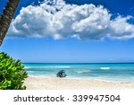 Boat On Tropical Beach At...