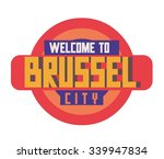 brussel city in belgium  is a... | Shutterstock .eps vector #339947834
