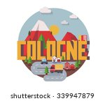 cologne city is a beautiful... | Shutterstock .eps vector #339947879