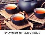 Asian Tea Set On Bamboo...