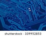close up of electronic circuit... | Shutterstock . vector #339952853