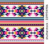 neon color tribal navajo...   Shutterstock .eps vector #339954986
