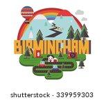 birmingham city is a beautiful...   Shutterstock .eps vector #339959303