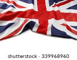 union jack flag on white... | Shutterstock . vector #339968960