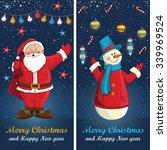 merry christmas card in vector... | Shutterstock .eps vector #339969524