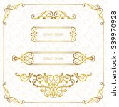 vector decorative frame.... | Shutterstock .eps vector #339970928